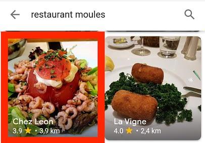 Restaurant Moules résultats images