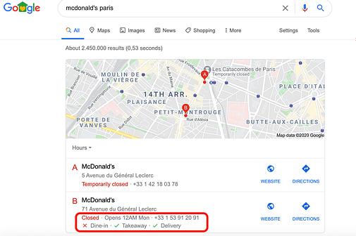 EN GMB -  restaurants large query