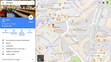 fiche locale google